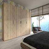 Шкаф для вещей, пенал модульный с полками в спальню S-13, фото 9