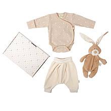 Набор одежды из органического хлопка с комфортером Wooly organic. Размеры: 56, 62, 68.