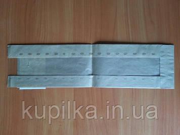 Бумажный пакет с прозрачной вставкой 370х100х50/40 мм 63