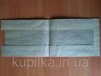 Бумажный пакет с прозрачной вставкой 390х140х50/60 мм 659