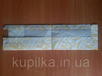 Бумажный пакет с прозрачной вставкой 370х100х50/80 мм 395