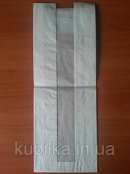 Бумажный пакет с прозрачной вставкой 390х140х50/40 мм 108