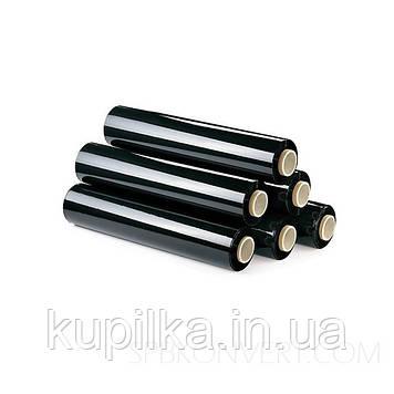 Стрейч-пленка черная 3 кг(рулон 382 метра) 20 мкм плотность 50 см ширина