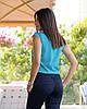 Жіноча блуза з круглим коміром річна, фото 4