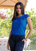 Жіноча блуза з круглим коміром річна, фото 2