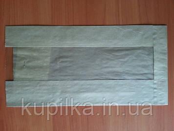 Бумажный пакет с прозрачной вставкой 310х160х80/60 мм 110