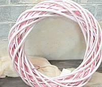 Вінок з лози рожевий 35 см, фото 1