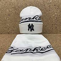 """Набор (шапка+баф)  разные цвета  """"Yankee """""""