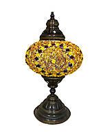 Настольный турецкий светильник Sinan из мозаики ручной работы золотой, фото 1