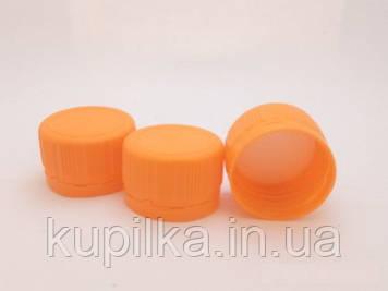 Крышка для ПЭТ бутылки оранжевая