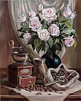Алмазная вышивка мозаика Чарівний діамант Букет ароматов КДИ-0108 40х50см 28цветов квадратные полная, фото 1