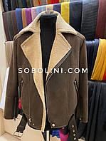 Мужская куртка косуха из тонкой овчины