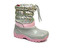 Дитячі сноубутсы для дівчинки 33-34 (22,0 см), фото 1