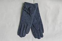 Перчатки кашемировые с тонким мехом, (цвет-серый)