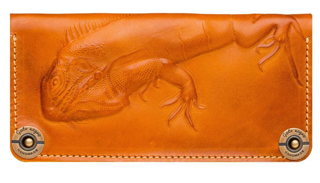 e6d9f2d6c5c3 Кожаный кошелек ручной работы Gato Negro Iguana женский, рыжий (женские  кошельки из натуральной кожи
