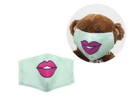 "Многоразовая 4-х слойная защитная маска ""Губки"" размер 3, 7-14 лет (зеленый) mask2NEW"