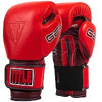 Боксерские перчатки TITLE GEL AHA Красные