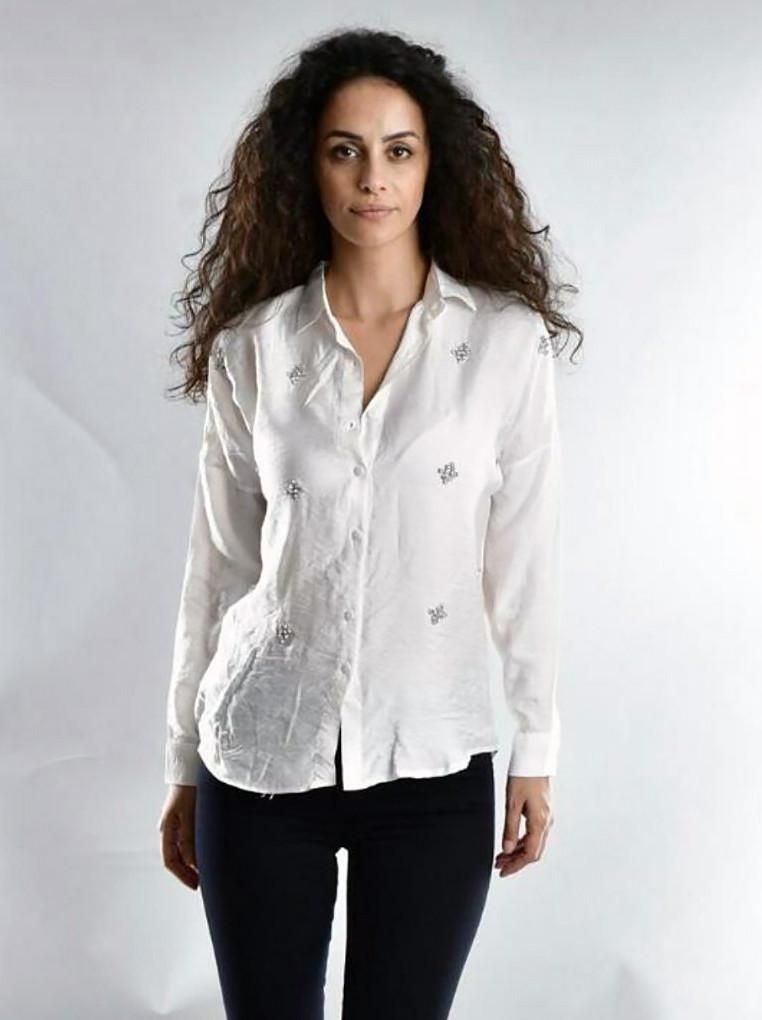 Красива жіноча сорочка на гудзиках SML (в кольорах)