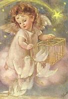 """Набор алмазной вышивки """"Ангелочек и голуби"""""""