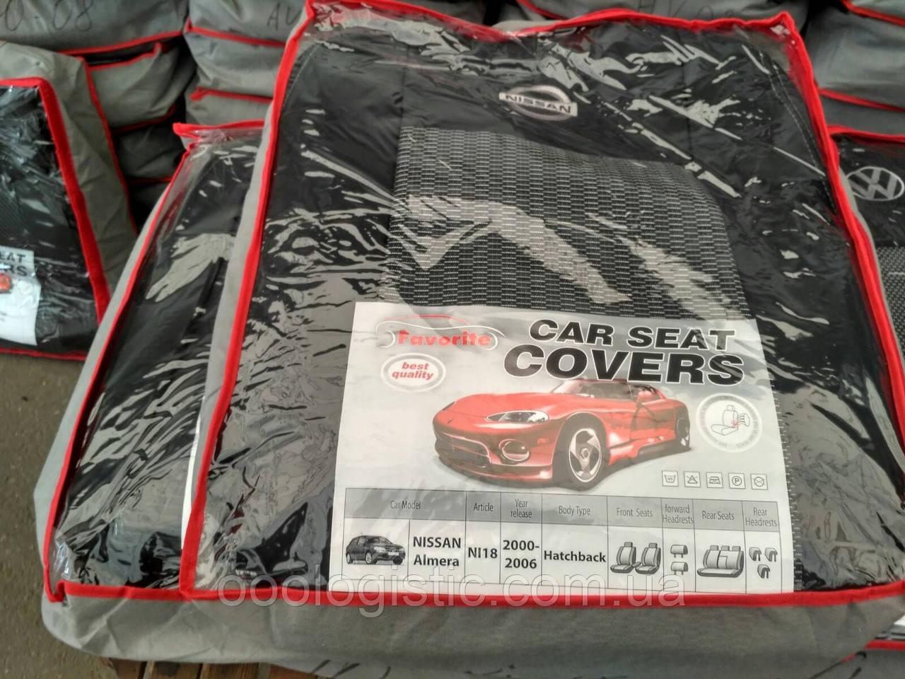 Авточехлы Favorite на Nissan Almera 2000-2006 hatchback,Ниссан Альмера 2000-2006 хэтчбек