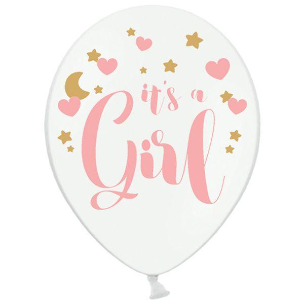 PD b105 it's a girl. Шар латексный с надписью Это девочка