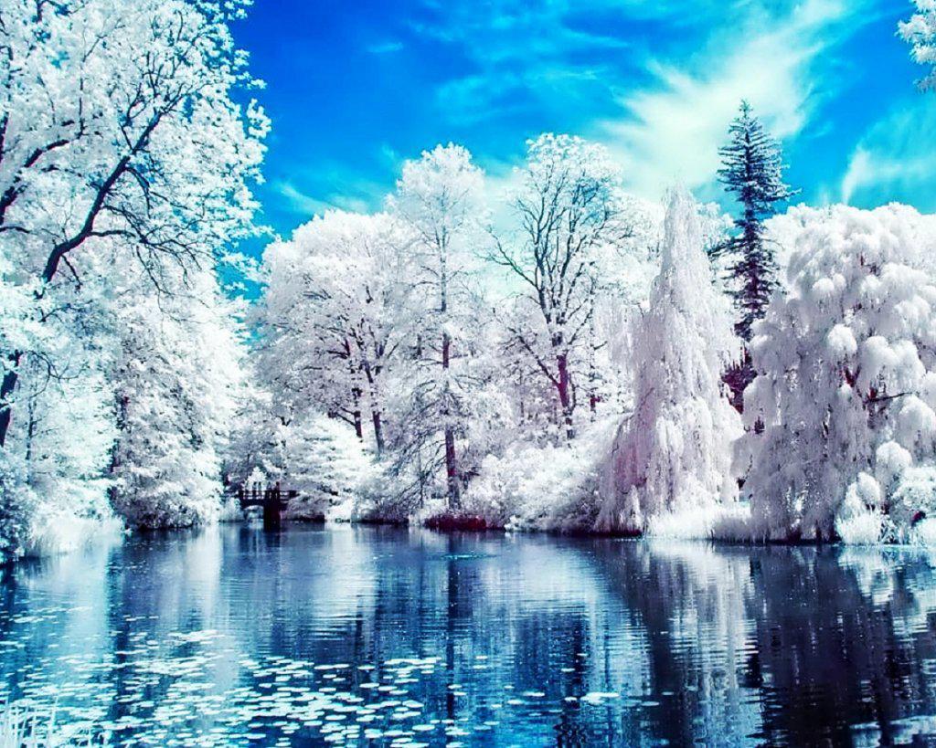 Алмазна вишивка, мозаїка Чарівний діамант Зимове озеро КДІ-0034 40х50см 18цветов квадратні повна