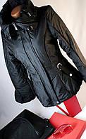 Курточка женская черная теплая