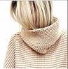 Свободный вязаный свитер под горло , фото 4
