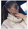 Свободный вязаный свитер под горло , фото 5