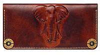 Кожаный кошелек ручной работы Gato Negro Elephant, коричневый (кошельки из натуральной кожи)