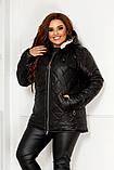 Качественная женская зимняя куртка oversize! Батальные размеры: от 48 до 58!, фото 6