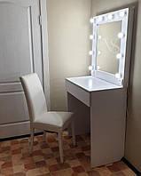 Стол с зеркалом с подсветкой. Стол визажиста с подсветкой. Место парикмахера
