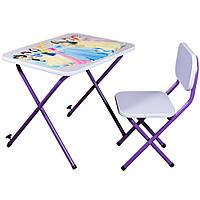 Детская парта со стульчиком Ommi Принцесса Фиолетовая
