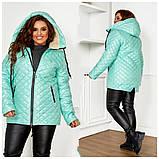 Качественная женская зимняя куртка oversize! Батальные размеры: от 48 до 58!, фото 5