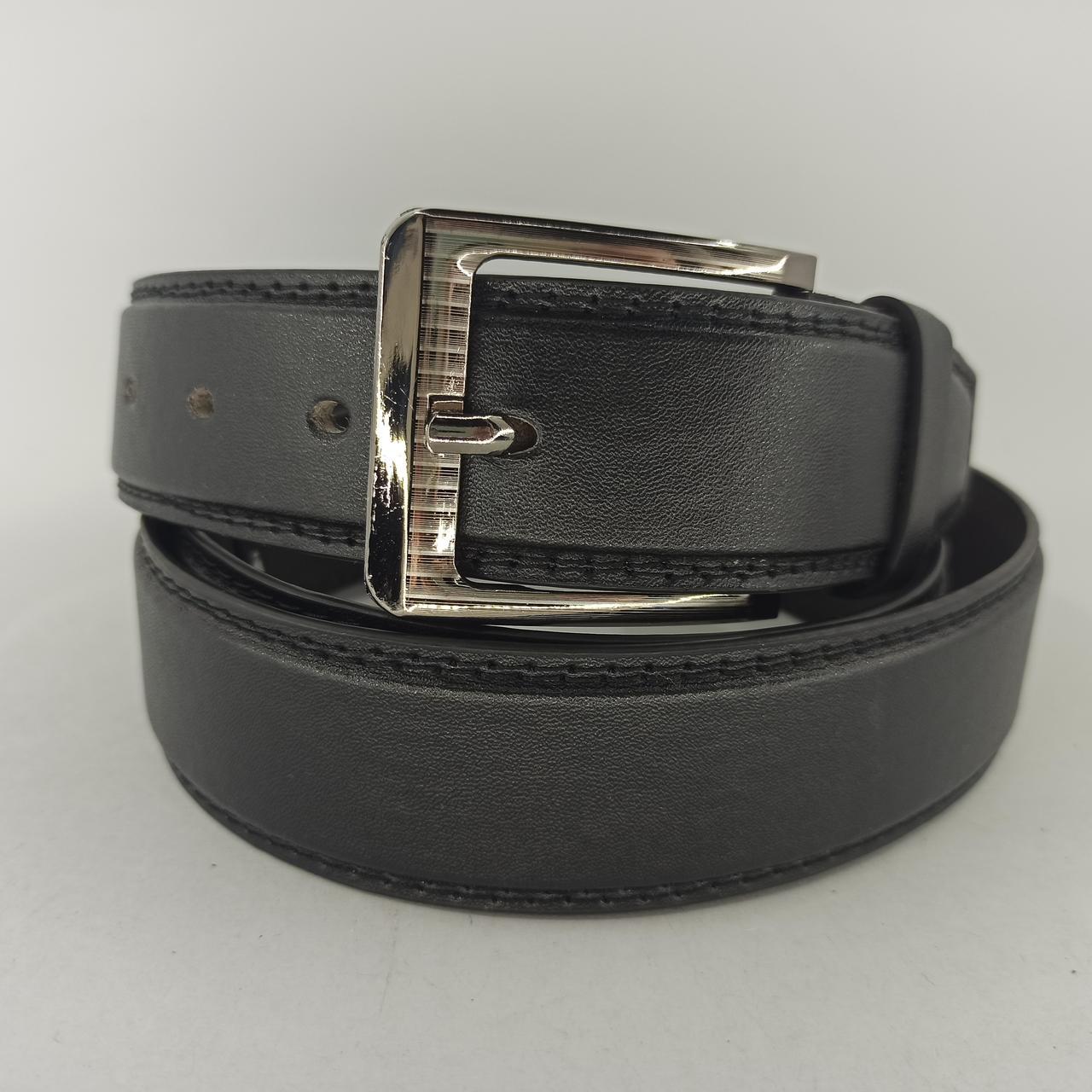 Мужской кожаный (PU) ремень с классической пряжкой Большая Длина Батал XXL B015