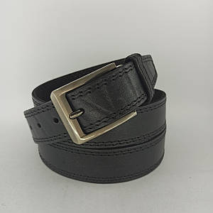 Мужской кожаный (PU) ремень с классической пряжкой Большая Длина Батал XXL B013