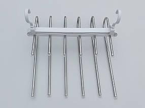 Плечики вешалки тремпеля для брюк  металлические лестница 6-ти ярусная, длина 33 см, фото 2