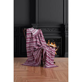 Плед-накидка Eponj Home Buldan Keten - Desibel 170*220 mor пурпурний