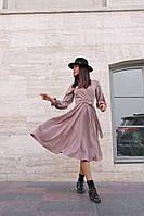 Женское платье, ткань:ткань: супер софт, классического кроя, с пояском,длинна миди(42-54), фото 1