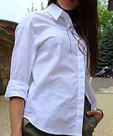 Женская Рубашка,ткань: коттон 100%,белая на пуговицах (42-48), фото 1