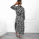 Женское платье на запах леопардовое ( 2 цвета - белое, коричневое), фото 2