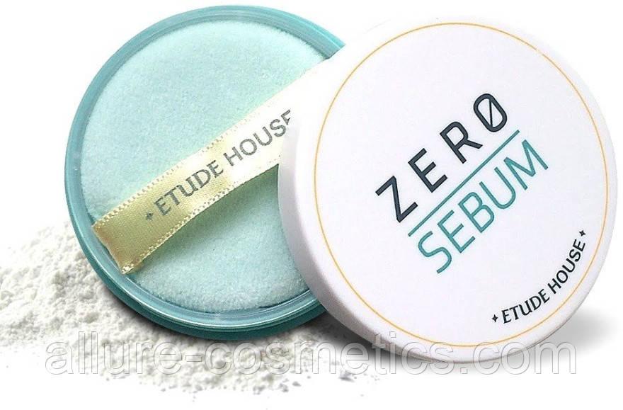 Мінеральна пудра Etude House zero Sebum drying Powder