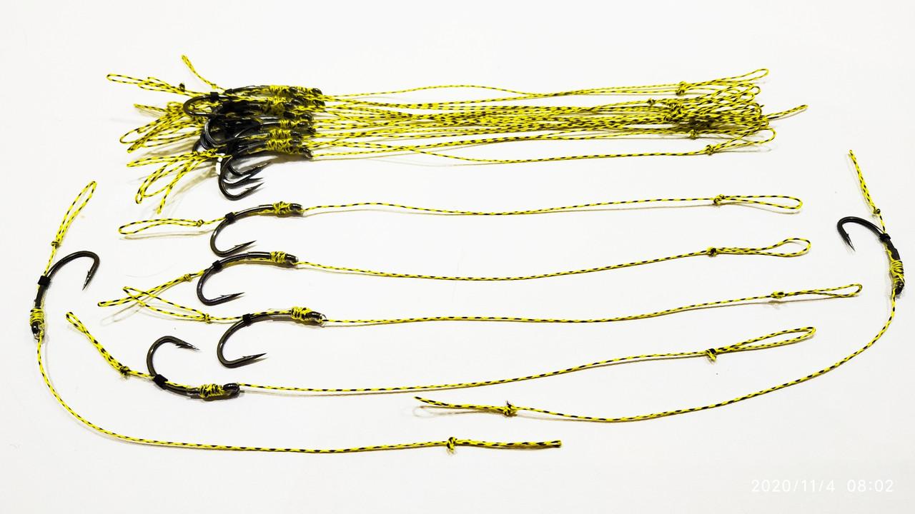 Карповый поводок (волос) , крючки «Fudo Carp Hook» № 4 формы Банан