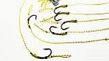 Карповый поводок (волос) , крючки «Fudo Carp Hook» № 4 формы Банан, фото 3