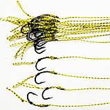 Карповый поводок (волос) , крючки «Fudo Carp Hook» № 4 формы Банан, фото 2