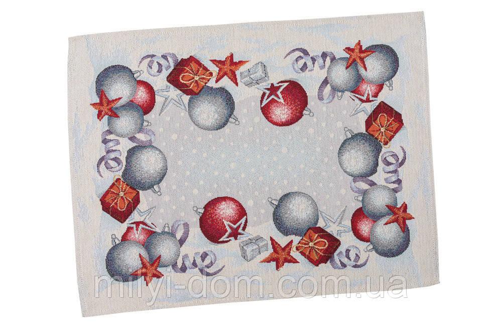 """Салфетка под тарелку  """"Квітчасте Різдво"""",  37х49 см"""