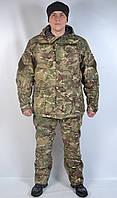 Теплый камуфляжный водонепроницаемый военный костюм Мультикам - зима (Польша)
