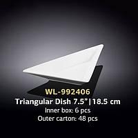 Блюдо треугольное (Wilmax, Вилмакс, Вілмакс) WL-992406