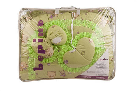 """Комплект детского постельного белья """"Рюша"""" рисунок Мишка на луне, цвет салатовый, ткань хлопок, фото 2"""