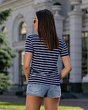 Женская футболка с карманом летняя в полоску рукава короткие, фото 2